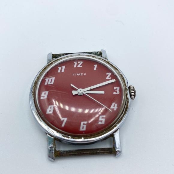 Vintage Red Timex Watch Head